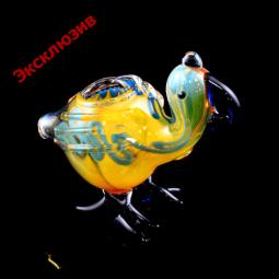 Стеклянная трубка меняющая цвет «Птица Киви»
