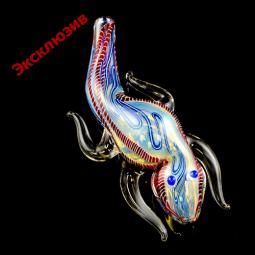 Стеклянная трубка меняющая цвет «Радужная ящерица»