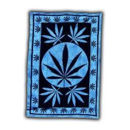 Раста панно Синий лист марихуаны