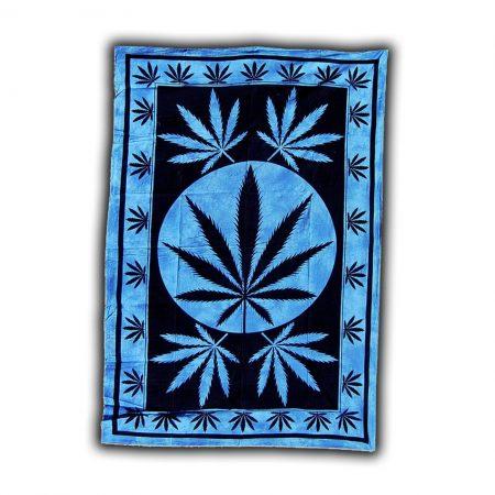 Раста панно «Синий лист марихуаны»