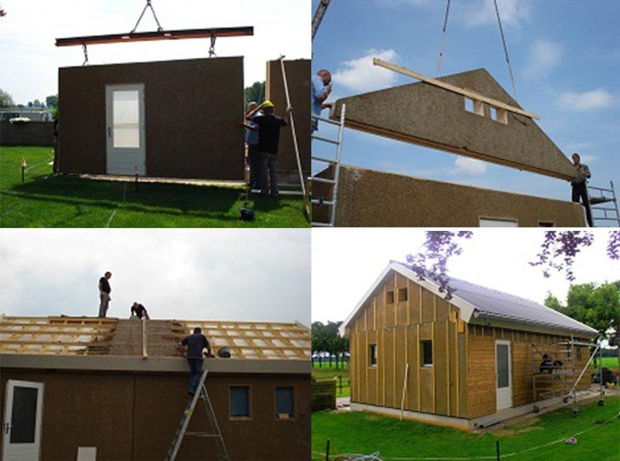 Голландии строят дома из коноплебетона