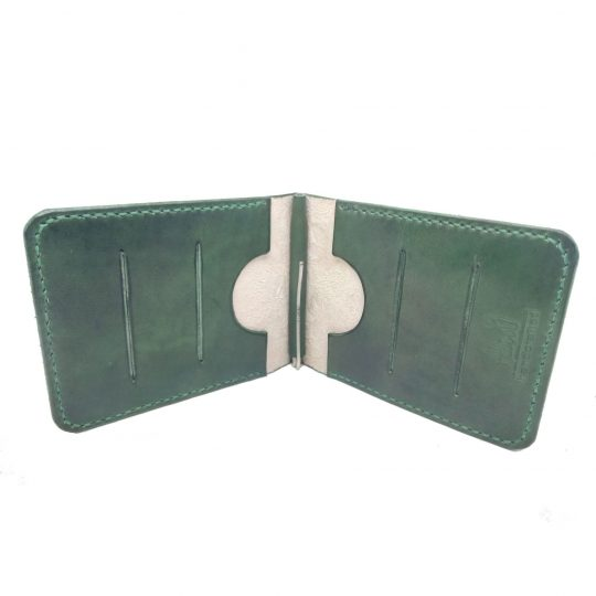 Зажим для денег «Зеленые листья»